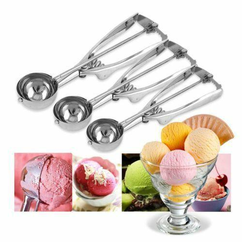 Stainless steel ice cream scoops diameter 4/5/6cm fruit spoon cookies spoon ball maker cooking tool MMA1436 200pcs