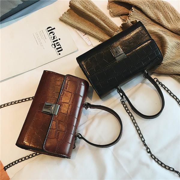 Fashion Female Tote Bag 2019 New Quality Leather Women's Designer Handbag Crocodile Pattern Chain Shoulder Messenger Bags