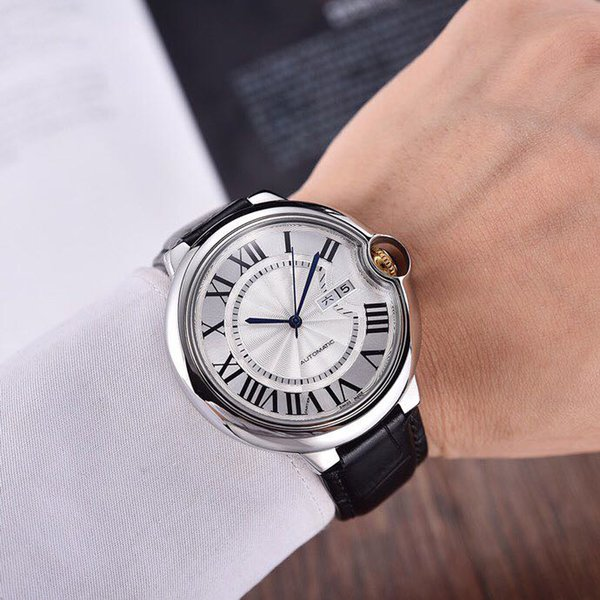 best selling new luxury fashion mens watch brand watches 43mm dial plate Imported Fully automatic mechanical movement man watches