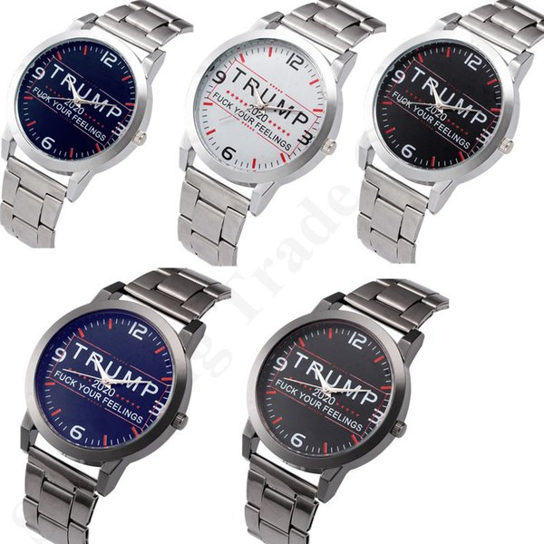 best selling Trump 2020 Women Men Watches 37mm Stainless Steel Strap Automatic Movement SL39 Mechanical Watch Letters Retro Quartz Wristwatches B82702