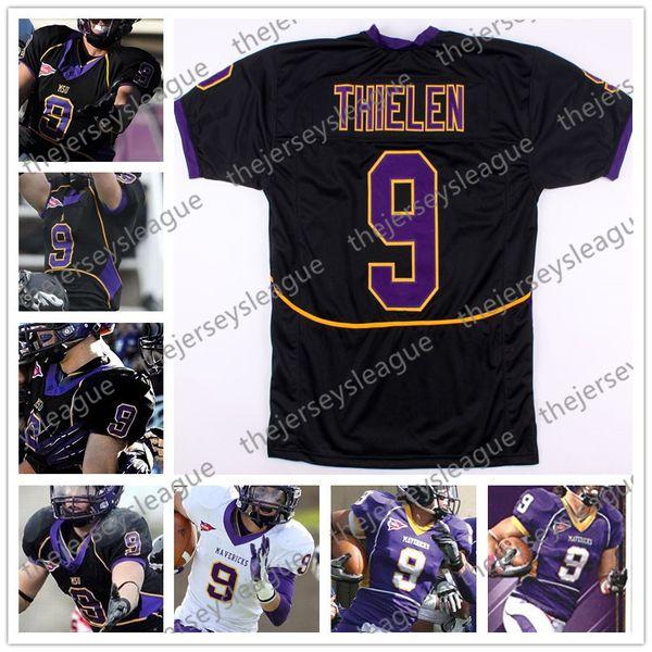finest selection 802a9 eb089 2019 MSU Mavericks #9 Adam Thielen Stitched Purple Black White Minnesota  State Vintage Mens Womens Youth NCAA College Football Jerseys S 4XL From ...