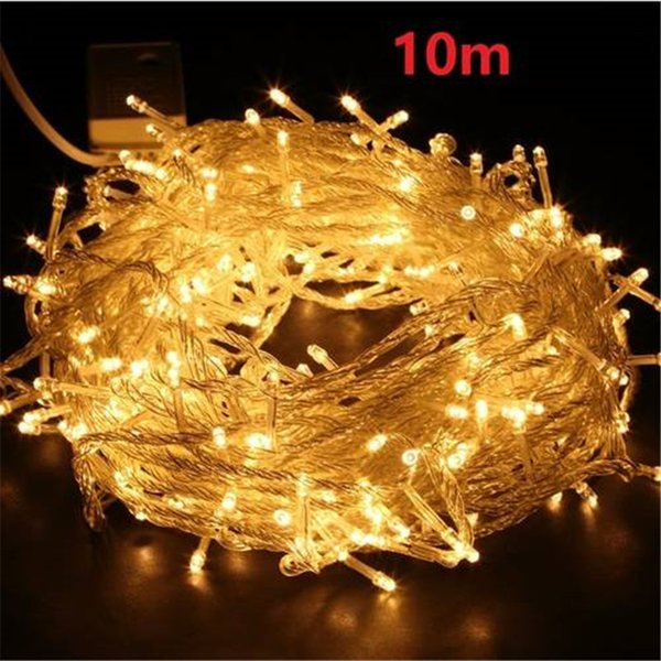 US Stock 100 LED 33ft/10m Starry Fairy String Light Waterproof Decorative Copper Wire Lights for Indoor Festival Christmas Wedding Party