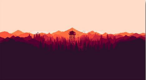 Firewatch Video Games Montanhas Minimalismo Floresta Art Wall Decor Silk Print Poster
