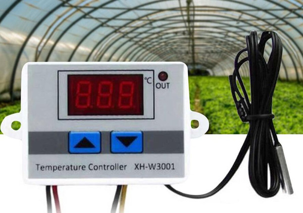 best selling LCD Dsplay XH-W3001 Temperature Controller 12V 24V 220V Digital LED Temperature Controller 10A Thermostat Control Switch Probe