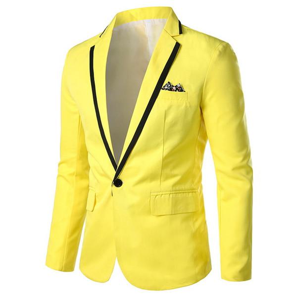 autumn new man slim fashion Men's Suit Contrast Short Small Blazer male plus size coats outerwear
