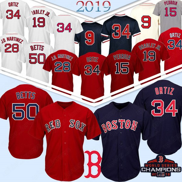 41 Chris Sale 50 Mookie Betts Boston Jersey Red Sox 15 Dustin Pedroia 9 Ted Williams 16 Andrew Benintendi 28 J D Martinez J.D.