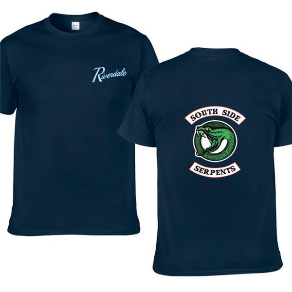Neue Art- und WeiseRiverdale T-Shirt Mannbaumwollkurzschlußhülsen beiläufige Riverdale Shirtmänner übersteigt T-Stücke Freies Verschiffen H7