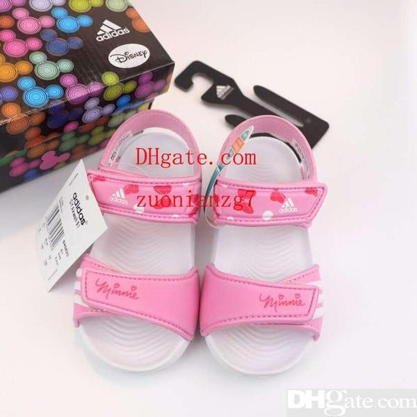 Kid Sandale für Jungen schwarz Farben kleines Mädchen Prinzessin lila Sommer Strandschuhe Eu 24-35 Kind Mädchen rosa Sandale Pantoffel