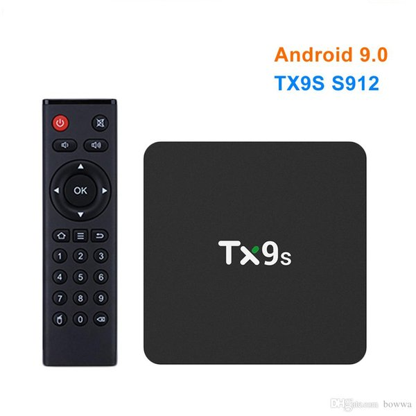 TX9S Akıllı Android 7.1 TV BOX Amlogic S912 Octa çekirdekli 2GB 8GB 2.4G Wifi Set Top Box 4K Kutusu Media Player