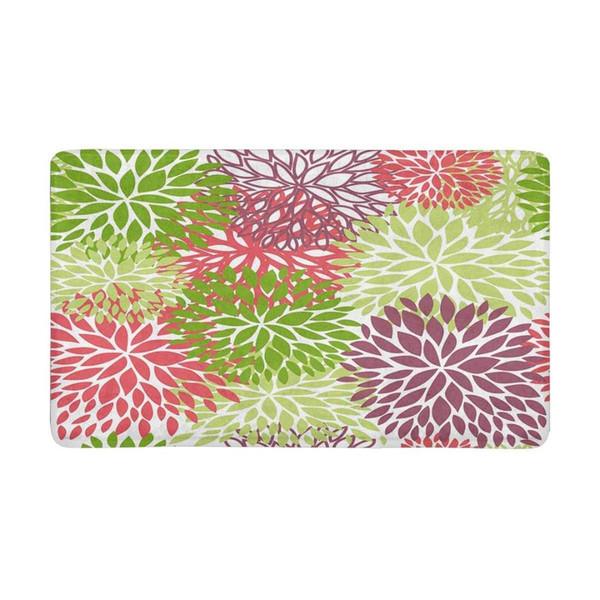 Alfombra de Dahlia Pinnata Flower Green, interior, antideslizante, puerta de entrada, puerta de entrada, alfombra