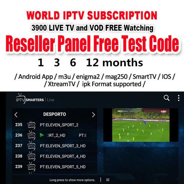 3800+ Canali 4500+ abbonamento VOD IPTV 3/6/12 mesi Android TV Box Europa arabo francese Italia Germania Regno Unito M3U Smart tv box