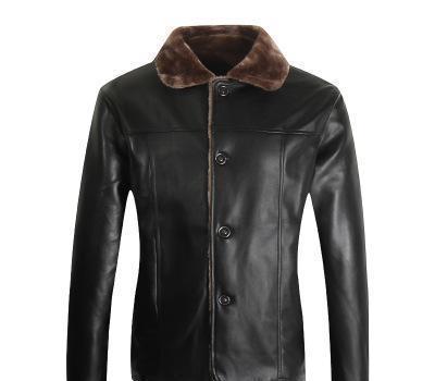 Caliente caliente invierno polar Moda con estilo hombres de la marca s chaqueta del collar del soporte del cuero delgado de la motocicleta de cuero de imitación masculino de la capa Outwear la chaqueta