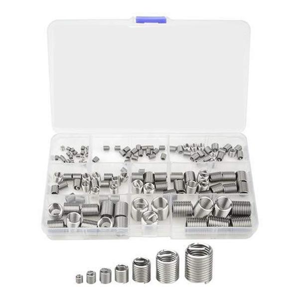 120 Stücke Silber M3-M12 Gewinde Reparatur Einsatz Kit Set Edelstahl Für Hardware Repair Tools