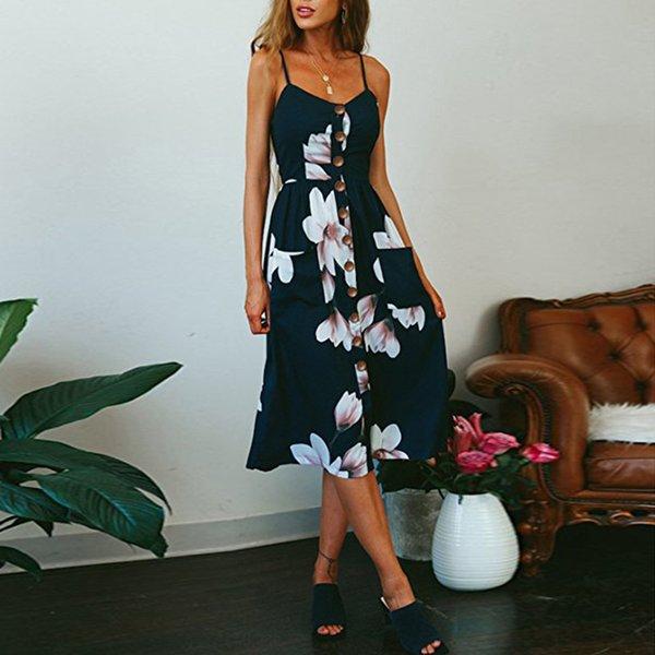 2019 Summer Women Dress Striped Design Long Boho Dress Lady Sleeveless Beach Summer Sundrss Maxi Dress Female Sexy Clothing