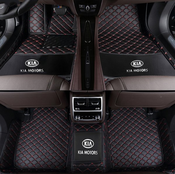 Applicabile al lussuoso tappetino per auto Kia Sportage R 2011-2018 circondato da tappetini per tappeti interni in pelle impermeabile verde