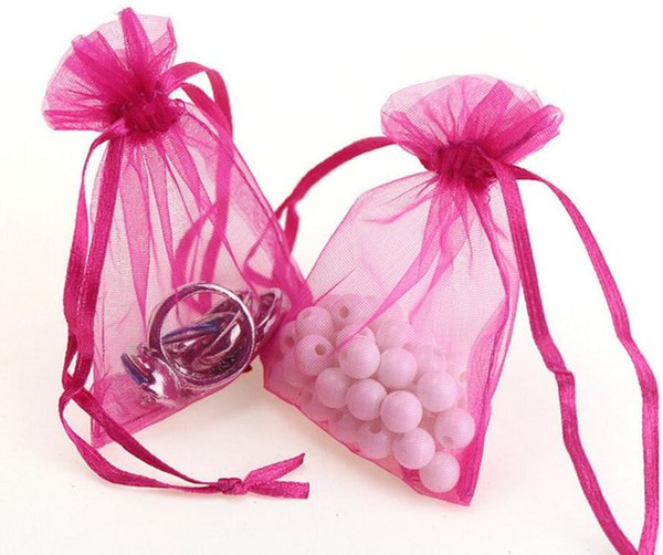 New Arrive 7x9cm Wedding Decorations Baby Shower Organza Bags Jewelry Gifts Party Favor Candy Birthday Supplies Packaging Goodie