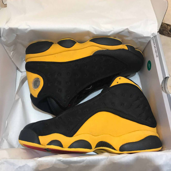 top popular 13 basketball shoes mens He Got Game sports shoes Chicago luxury Athletic History Flight 13s sneakers fashion designer shoes US 40-47 2019