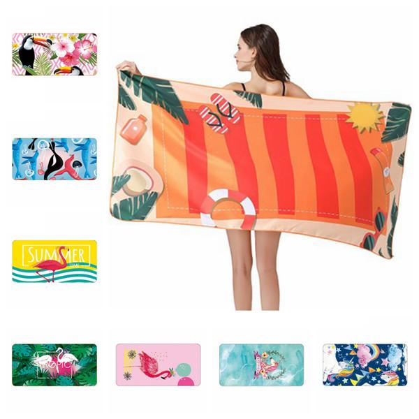 Serviette de yoga de remise en forme Cartoon de 28 styles imprimé Tapis de plage à séchage rapide et à sec Fit Serviettes de bain Swimmming Fit Bord de mer 160 * 80 cm ZZA1096 -1