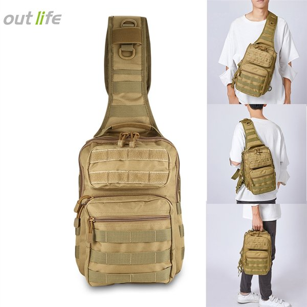 Outlife 600D Nylon Fabric Tactical Military Shoulder Sling Backpack Crossbody Bag 480D Tough Nylon Lining Waterproof Outdoor Bag #109096