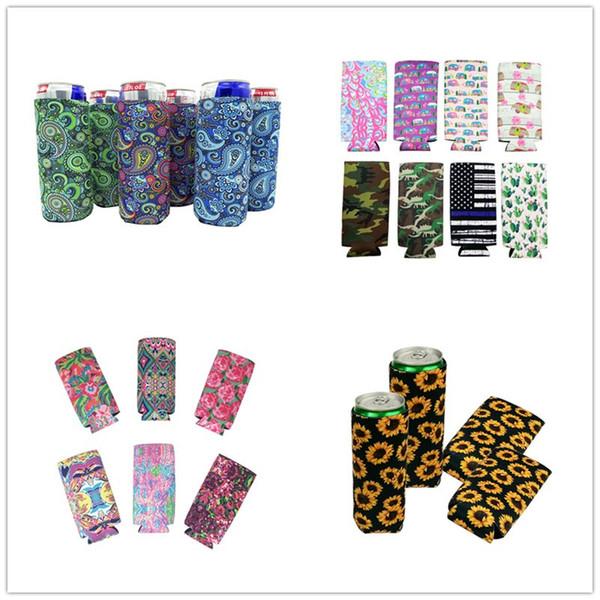 Lily Tazas de Manga Larga de Neopreno Tazas Cubiertas Cubierta de Girasol de Colores Patrón Floral Portavasos Refrigeradores de Bebidas Protector A42701
