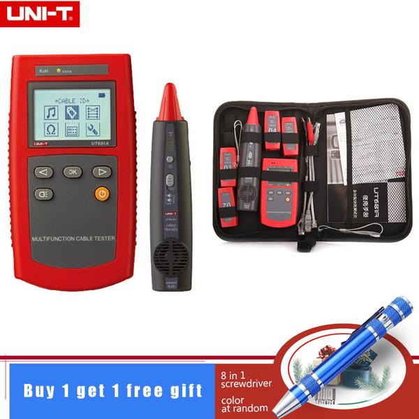 UNI-T UT681A Kabelsuchgerät für tragbare Netzwerktester mit Kabelortungsdetektor rj45 rj11 für Schleifenwiderstandsprüfung