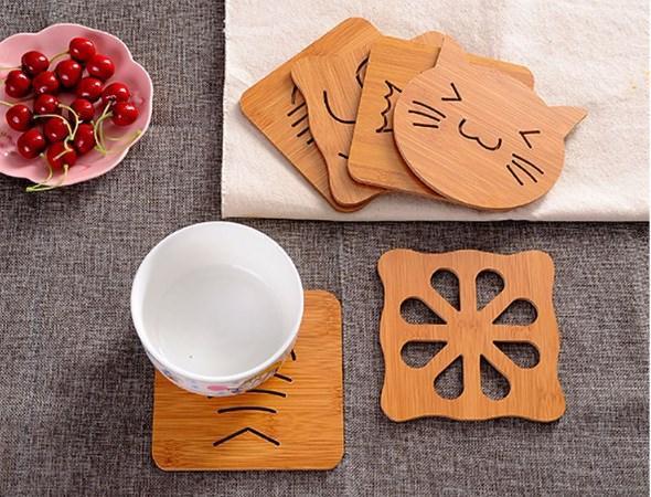 Acquista Stencil Cucina In Legno Con Tappetini Isolanti Spessi Anti  Stiratura A $0.38 Dal Andy3000 | DHgate.Com