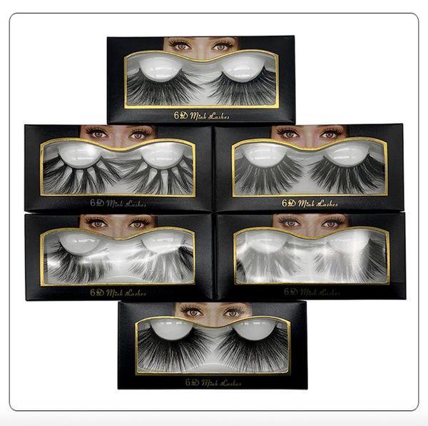 10 estilo nova venda quente 25mm cílios falsos 5d cabelo vison 6d tridimensional messy bushy cílios 2 pcs = 1 par = 1 lote frete grátis