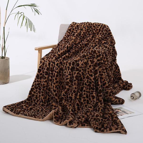 5 cores Leopardo Faux Cobertor de pelúcia Lance Colcha Cobertor - Throw Blankets, Extra grande cobertores de pelúcia, cobertor personalizado