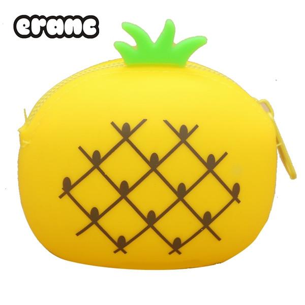 2017 nouveau fruit filles Silicone Petit Mini Coin Porte-Monnaie Changer Portefeuille Femmes Clé sac Enfants hangbags haute qualité # 43600