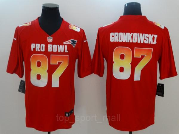 brand new a9db4 a5a40 2019 2019 Pro Bowl Jersey Tom Brady Patrick Mahomes Antonio Brown Drew  Brees Todd Gurley II Saquon Barkley Ezekiel Elliott Rob Gronkowski Jones  From ...
