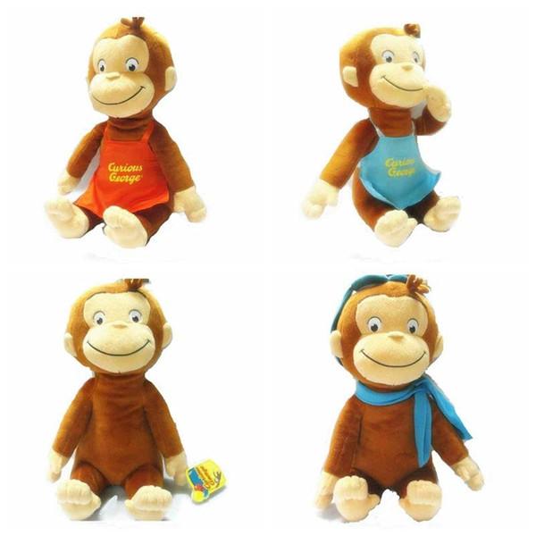 2016 nette 30 CM CURIOUS GEORGE Affe Plüsch Puppe Stiefel Spielzeug Kuscheltiere Plüsch Kinder Weihnachten Geburtstagsgeschenk