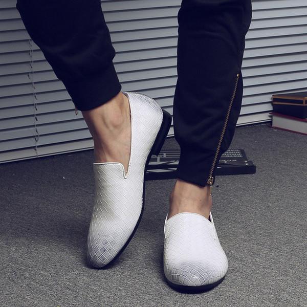 Weißer Leder Loafer