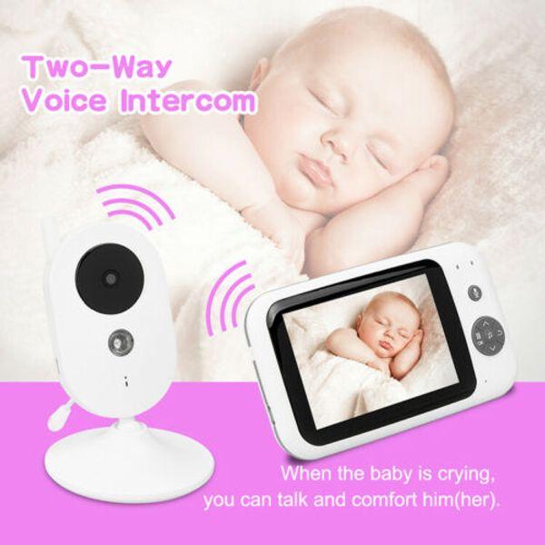 3.5'' Digital Wireless 2-Way Talk Baby LCD Monitor Audio Video Camera Intercom
