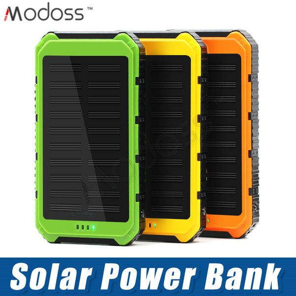 ZZYD For iP 7 8 Samsung S8 Note 8 Portable 4000mAh Solar Power Bank Dual USB External Battery Pack Waterproof Led Charger
