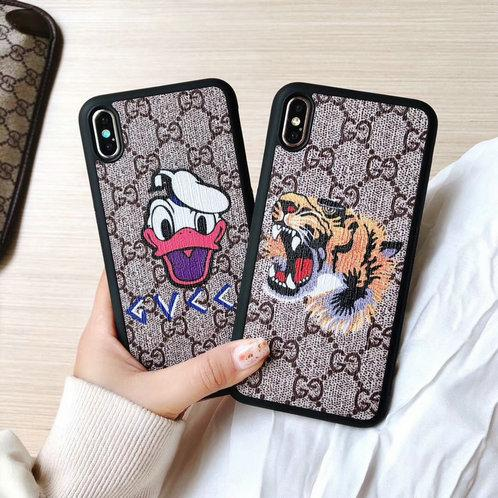 Printed Tiger Snake Bee Mobile phone case for iphone XS max Xr X 7 7plus 8 8plus 6 6plus 6S TPU Soft Edge + hard back cover