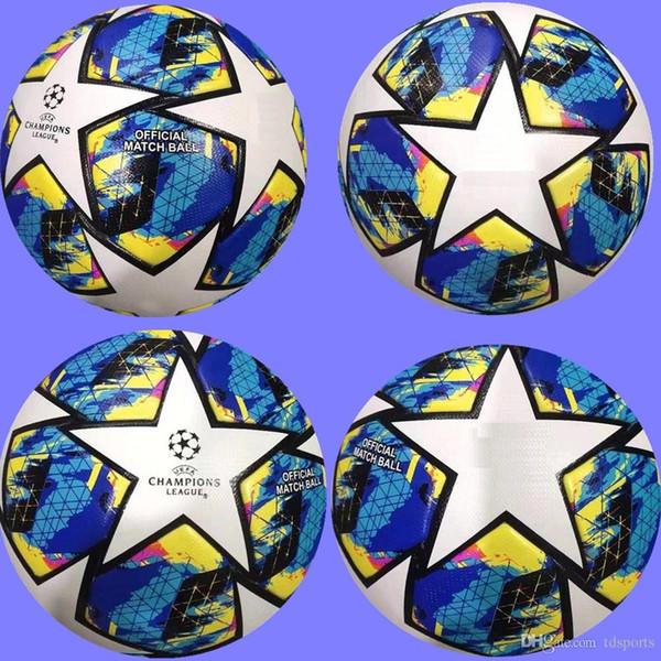 19 20 European champion high quality ball Soccer ball 2019 2020 Final KYIV PU size 5 balls granules slip-resistant football Free shipping