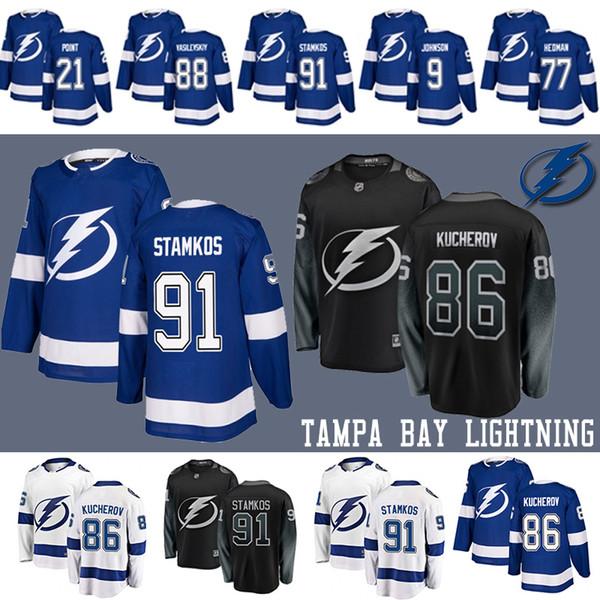 best selling 91 Steven Stamkos Tampa Bay Lightning Hockey Jerseys 86 Nikita Kucherov 77 Victor Hedman 9 Tyler Johnson 21 Brayden Point Vasilevskiy