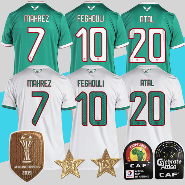 Maillots de football 2 étoiles Algeria TOP QUALITY 2019 Africa Coupe
