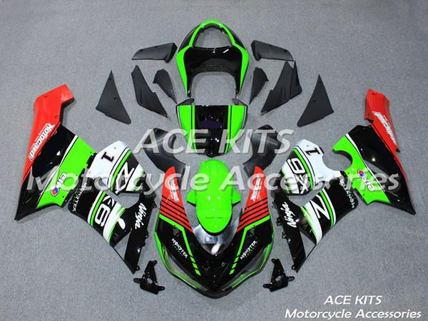 New Hot ABS Motorrad Fahrrad Verkleidungs-Kits 100% fit für Kawasaki Ninja ZX-6R 2005 2006 ZX-6R 05 06 Alle Arten von Farb NO.NN11