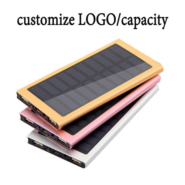 vendita all'ingrosso di emergenza esterna portatile Stealth Angelo 10.000mAh impermeabile / antiurto solare caricabatterie Dual-USB e luce a LED