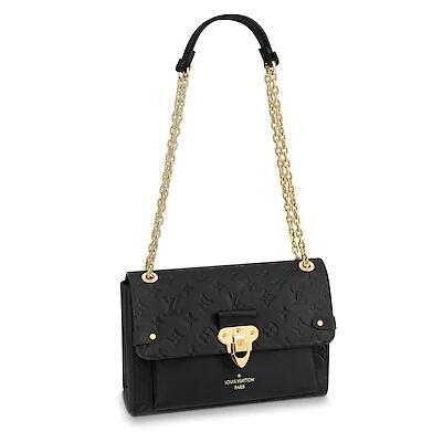 2019 M44151 VAVIN PM BLACK Real Caviar Lambskin Le Boy Chain Flap Bag HANDBAGS SHOULDER MESSENGER BAGS TOTES