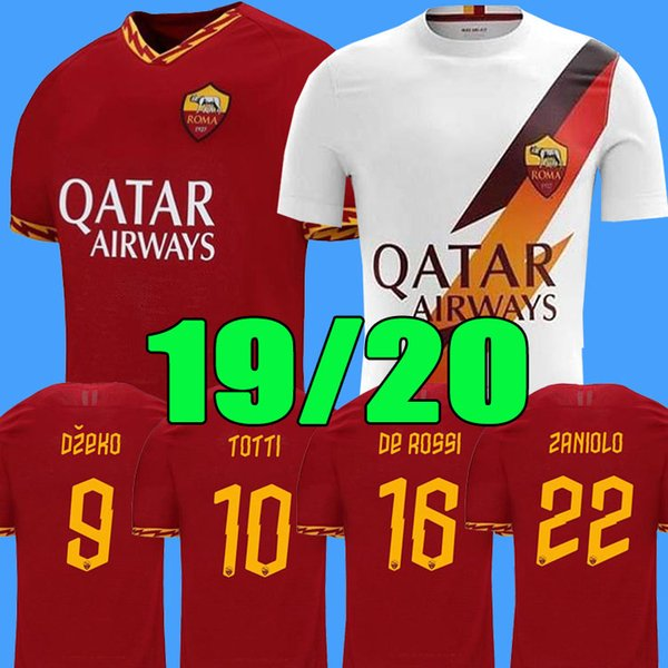 Thailand DZEKO PEROTTI PASTORE ZANIOLO soccer jersey rome 2019 TOTTI jersey 19 20 football kit shirt DE ROSSI 2020 as maillot de foot roma