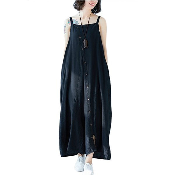 New Women Sexy Siamese pants Summer Sling Backless Irregular Rompers Womens Jumpsuit Casual Wide Leg Pants Plus size Black F020
