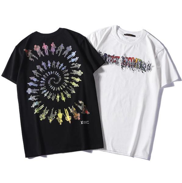 19 sayaçları son yüksek kalite erkek kadın giyim Yaz T-shirt Erkekler ve kadınlar Seiko nakış pamuk Spor Moda ceket