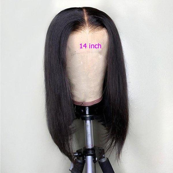 Parrucca per capelli umani in pizzo pieno Bob taglio pre pizzicato con parrucche brasiliane in pizzo glueless vergine brasiliano per donne nere