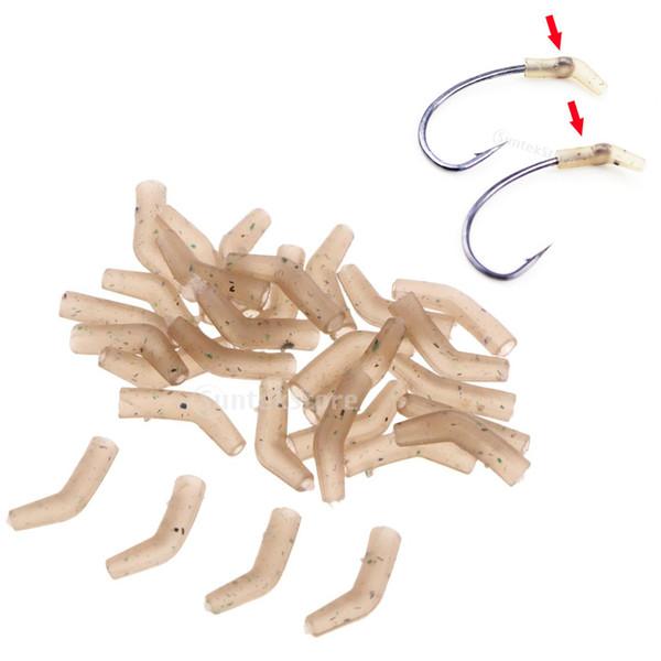 30pcs Carp Fishing Hook Sleeves Aligner Hook Hair Rig Sleeve End Tackle SH
