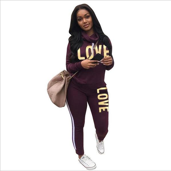 Multicolor Women Tracksuits Sports Set Big tongue Sweatsuit Outfit 2 Piece Set long hole Pants Bodycon Autumn And Winter Clothing Plus Size