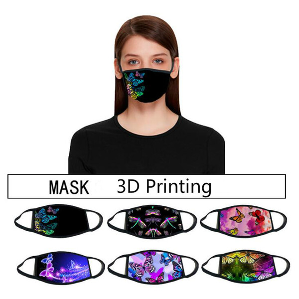 top popular Women Printing Face Mask Bandanas Reusable Kids Adult Cartoon Dustproof Mask Ultraviolet-proof Washable Running Riding Bike Protective Mask 2021