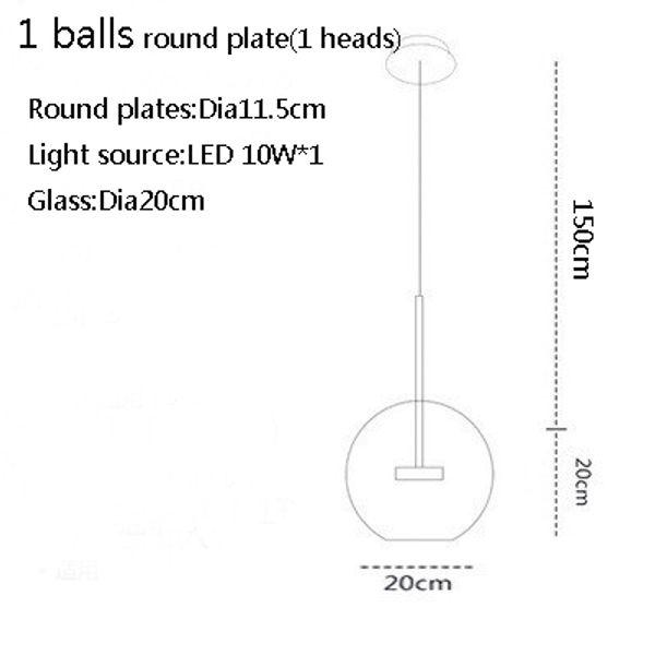 1 palla 20 cm