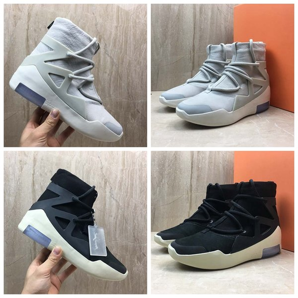 2019 Air Fear of God 1 New Arrivals Boots Light Bone Black Sail Basketball Shoes Sneakers Mens Trainers Sports Designer Zapatillas With Box